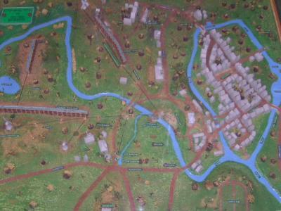 Oldesloe um 1850 - das großformatige und detailgetreue Stadtmodell beeindruckte schon viele Besucher und ist das Kernstück der A
