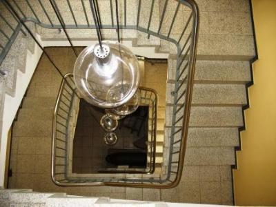Blick von oben - Treppenhaus im Heimatmuseum