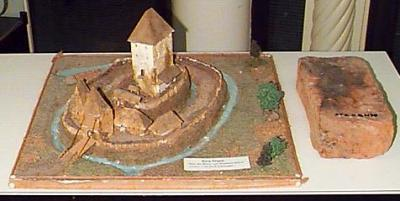 Modell der Burg Stegen